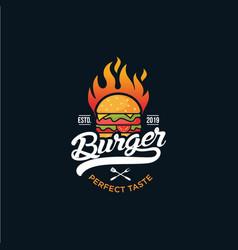 Burger logo design vector