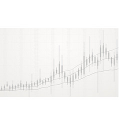 business candlestick chart growth vector image
