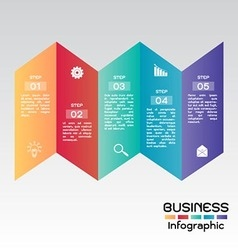 Business Infographic Step Presentation vector image