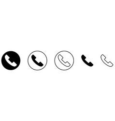call icon set telephone symbol vector image