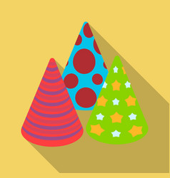 caps in the form of cones for partyparty and vector image
