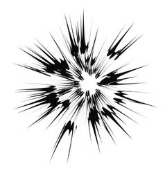 Cartoon Explosion Star Burst vector