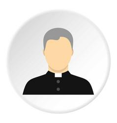 catholic priest icon circle vector image