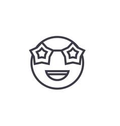 celebrity emoji concept line editable vector image