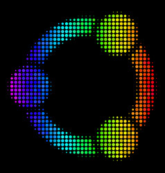 colored dotted cooperation icon vector image