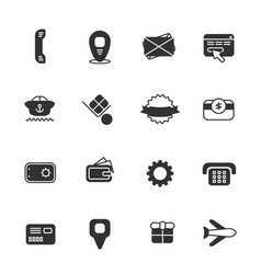 Commercial icon set vector