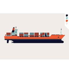 Container Ship Icon vector