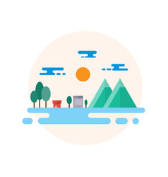 countryside landscape flat design vector image
