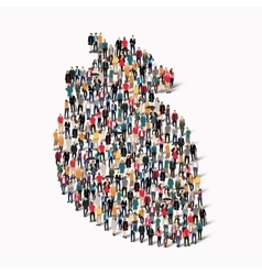crowd people shape heart medicine vector image