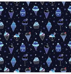 dark ice cream vector image