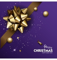 Elegant Merry Christmas or Happy New Year vector