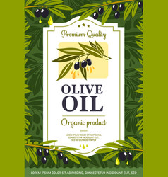 extra virgin olive oil organic natural product vector image
