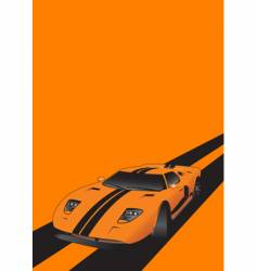fantastic car on road orange vector image