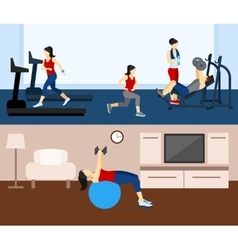 Fitness Workout Banner vector image