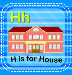 flashcard letter h is for house vector image