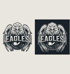 Football team vintage logo vector