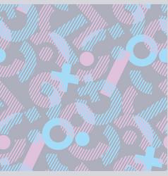 Fun and chaos geometric seamless pattern vector
