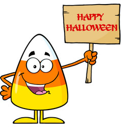 Funny candy corn cartoon character vector