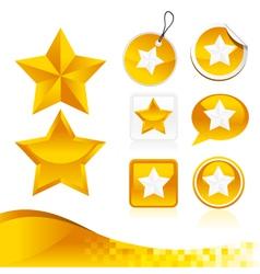 Golden Star Design Kit vector image