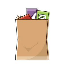 grocery bag design concept vector image