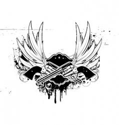 Grunge insignia vector