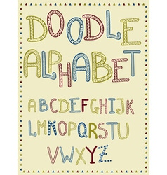 Hand Drawn Doodle Letters vector image