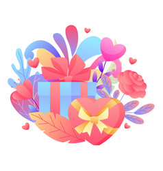 happy valentine day greeting card vector image