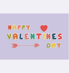 Happy valentines day card holiday background vector