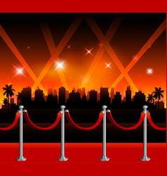 hollywood red carpet background vector image