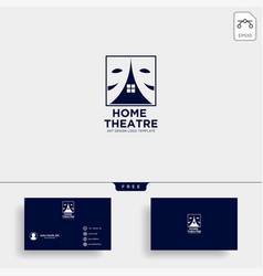 Home theater mask actor logo template icon element vector