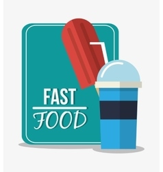 Ice cream and fast food design vector