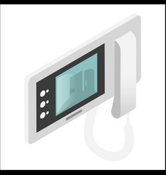 intercom video door-phone or entry system used vector image