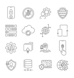 internet technology online services data vector image