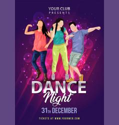 lag b omer dancedance night party flyer design vector image