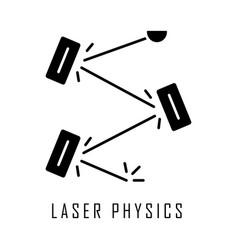 Laser physics glyph icon optics branch quantum vector