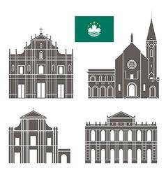 Macau vector image