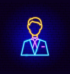 man neon sign vector image