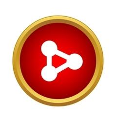 Molecule icon simple style vector image