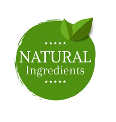 natural label isolated vector image