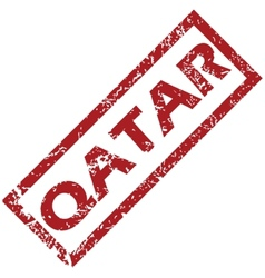 New Qatar rubber stamp vector