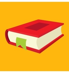Nice book flat icon vector