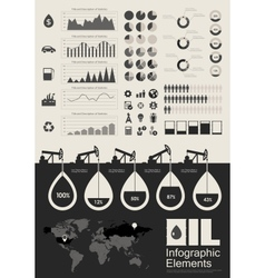Oil Industry Infographic Elements vector