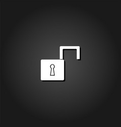 open padlock icon flat vector image