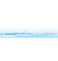 panorama winter mountains landscape vector image