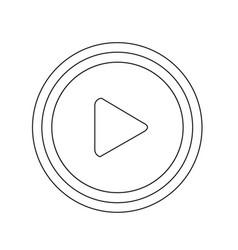 play button icon design vector image