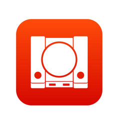Playstation icon digital red vector
