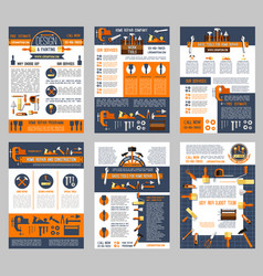 Posters house repair construction work tool vector