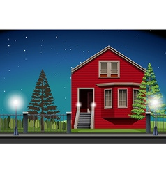 Private house at night time vector