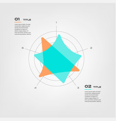 radar diagram elements color infographics some of vector image