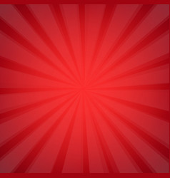 red sunburst vector image